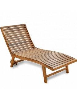 Yachting Teak Collection Poolside/Sun Deck Lounge - Nautical Luxuries