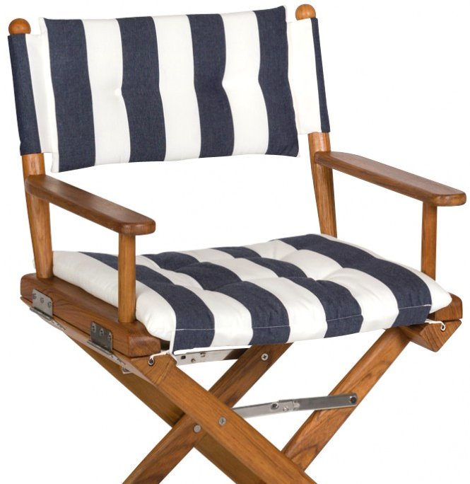 Yachting Teak Collection Luxe Cushion Deck Chairs - Nautical Luxuries