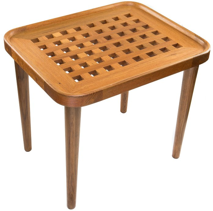 Yachting Teak Collection Open Crosshatch End Table