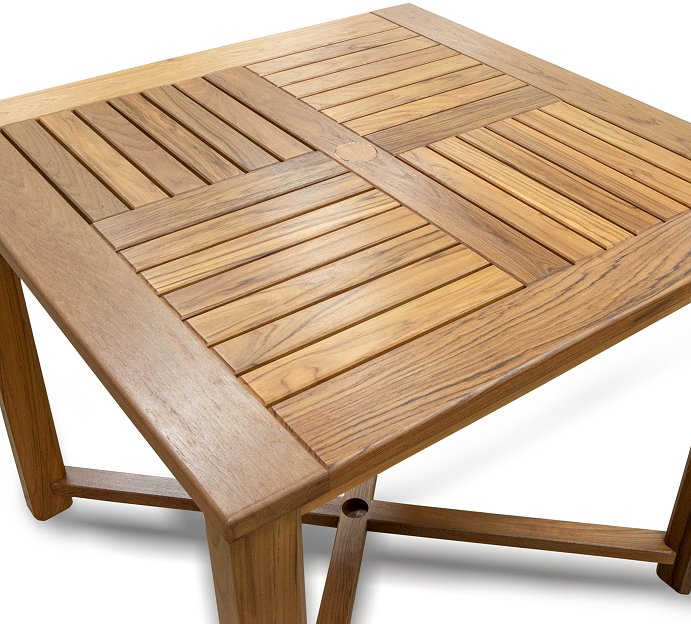 Yachting Teak Collection Square Dining Table - Nautical Luxuries