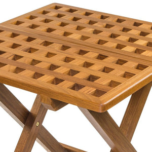 Yachting Teak Collection Hatch Grate Small Folding Table - Nautical Luxuries