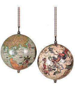 Vintage Earth & Heavens Ornament Set