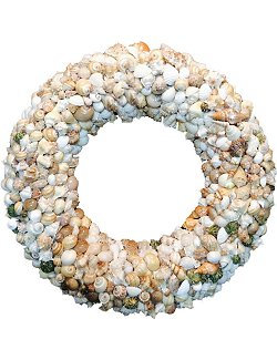 Grande Seashell Pavé Beach Wreath - Nautical Luxuries