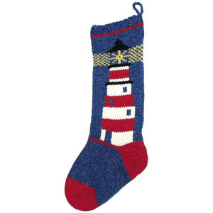 Hand Knit Coastal/Nautical Christmas Stockings - Nautical Luxuries