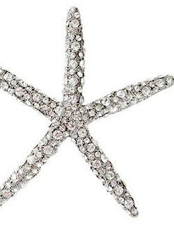 Swarovski Crystals Metal Starfish Ornament - Nautical Luxuries