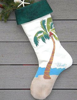 Hand-Painted Coastal/Nautical Christmas Stockings