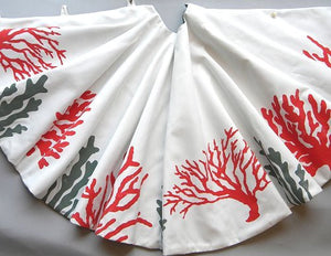 Hand-Painted Coastal/Nautical Christmas Tree Skirts - Nautical Luxuries