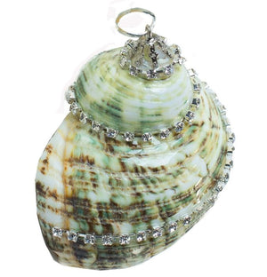 Poseidon's Jewels Swarovski Crystals Seashell Ornament Set - Nautical Luxuries