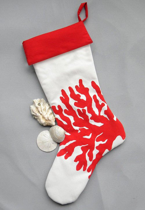 Hand-Painted Coastal/Nautical Christmas Stockings - Nautical Luxuries