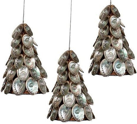 Pearl Gem Abalone Shell Tree Ornament Set - Nautical Luxuries