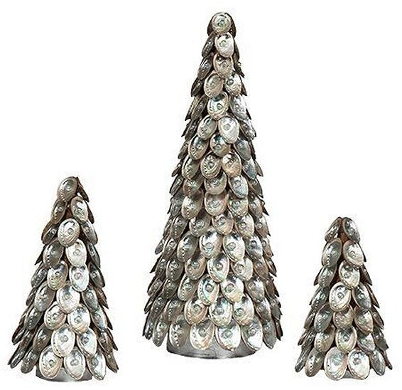 Pearl Gem Abalone Shell Tabletop Tree