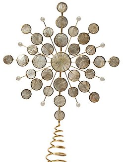 Capiz Shell Celestial Star Tree Topper - Nautical Luxuries