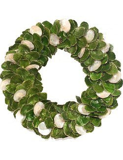Golden Tipped Capiz Shell Coastal Wreath - Nautical Luxuries