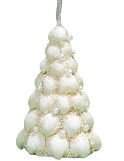 Pearl Gem Clamrose Shell Coastal Tree Ornament Set - Nautical Luxuries