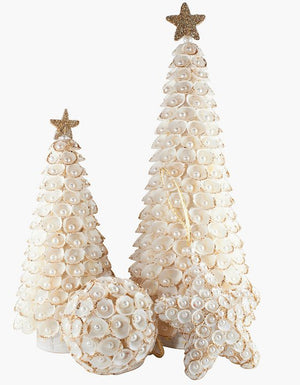 Pearl Gem Clamrose Shell Coastal Tabletop Trees - Nautical Luxuries
