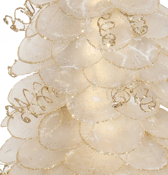 Glittering Natural Capiz Shell Coastal Tabletop Trees - Nautical Luxuries