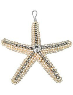 Swarovski Crystal Freshwater Pearls Starfish Ornament - Nautical Luxuries