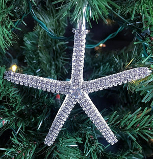 Swarovski Crystal Starfish Ornament - Nautical Luxuries