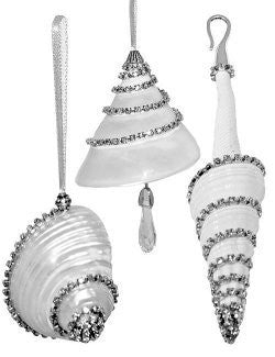 Swarovski Crystals Seashells Luxury Ornament Set - Nautical Luxuries