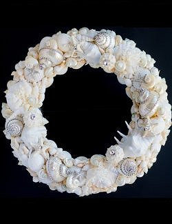 Swarovski Crystals Seashell Wreath - Nautical Luxuries