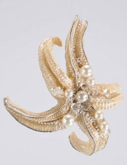 Glitter Starfish Ornament Set - Nautical Luxuries
