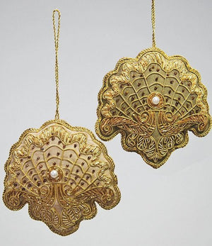 Victorian Beaded Shell 2-Pc. Ornament Set - Nautical Luxuries