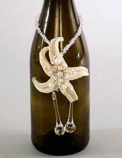 Starfish Wine Bottle Necklace 6-Pc. Set