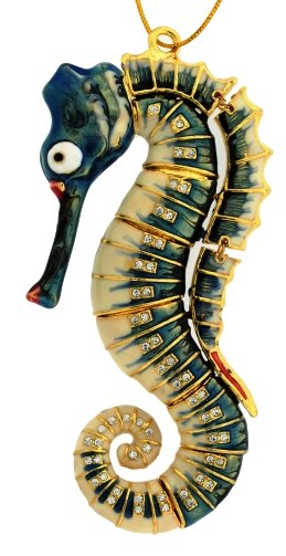 Deep Sea Articulated Seahorse Ornaments - Nautical Luxuries