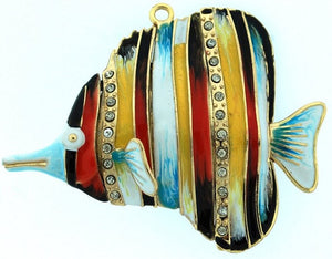 Cloisonne Sea Gems Tropical Fish Ornaments - Nautical Luxuries