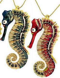 Deep Sea Articulated Seahorse Ornaments
