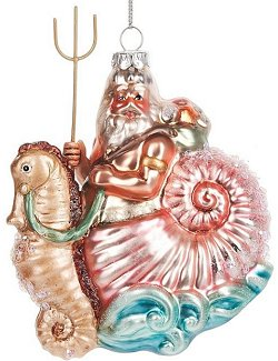 Riding The Waves Glass Ornament Set