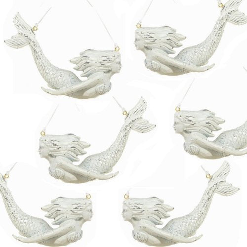 Rustic Mermaid Ornament Set