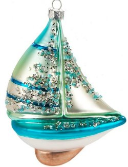 Under Sail Glass Ornament Set - Nautical Luxuries