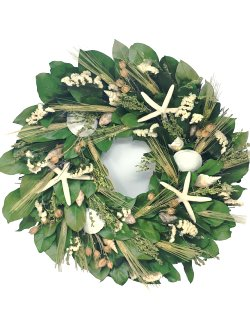 Nantucket Star Preserved Coastal Wreath - Nautical Luxuries