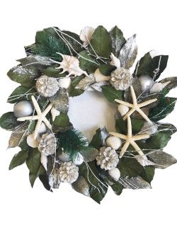 Silver Seashore Preserved Coastal Wreath
