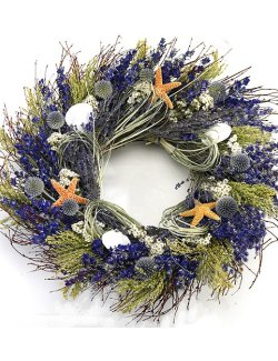 Lavender Isles Preserved Coastal Wreath