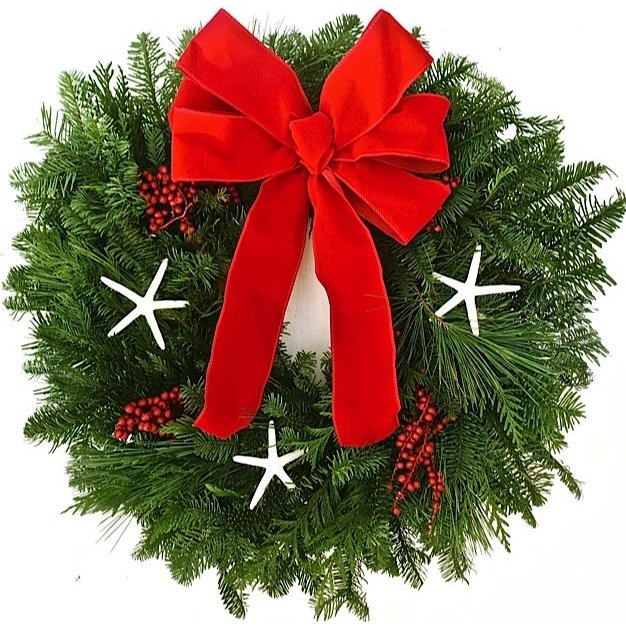 Christmas Star Fresh Coastal Holiday Wreath