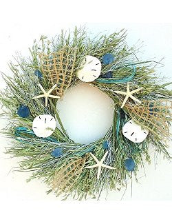 Sea Catch Preserved Indoor Beach Cottage Wreath - Nautical Luxuries