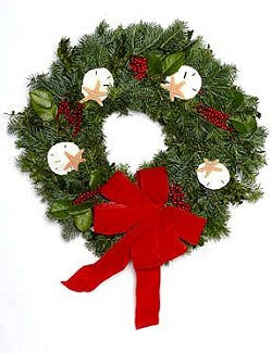 Sea Captain's Fresh Noble Fir Coastal Holiday Wreath