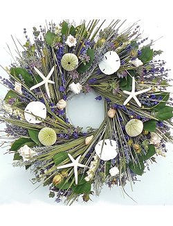 Amethyst Islands Preserved Indoor Beach Cottage Wreath