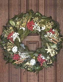 Winter Harbor Preserved Coastal Holiday Wreath