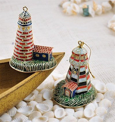 Cloisonné Nautical Lighthouse Ornaments