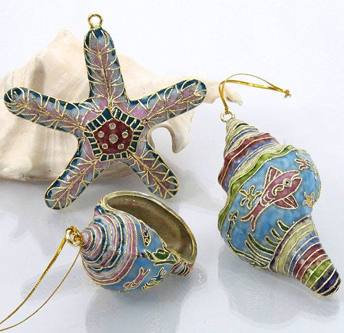 Cloisonne Seashells Ornaments