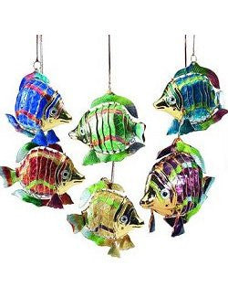 Articulated Cloisonne Enamel Blow Fish Ornaments