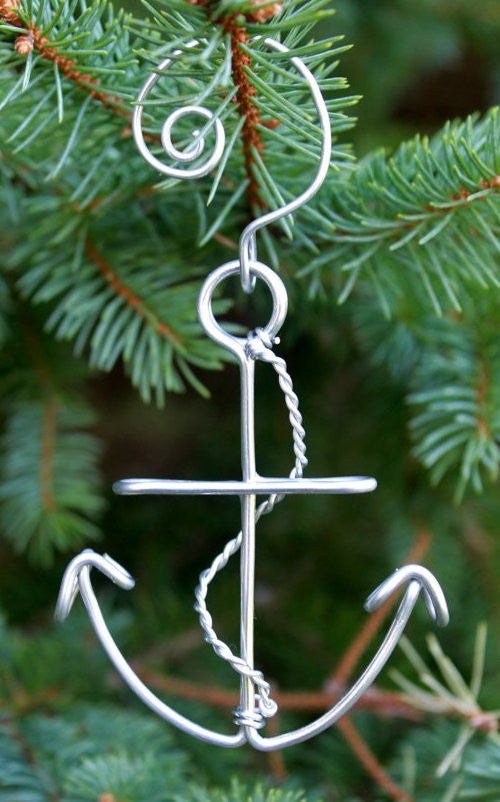 Handcrafted Wire Anchor Ornaments