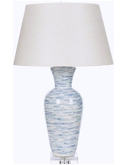 Italian Ceramic Ocean Winds Table Lamp - Nautical Luxuries