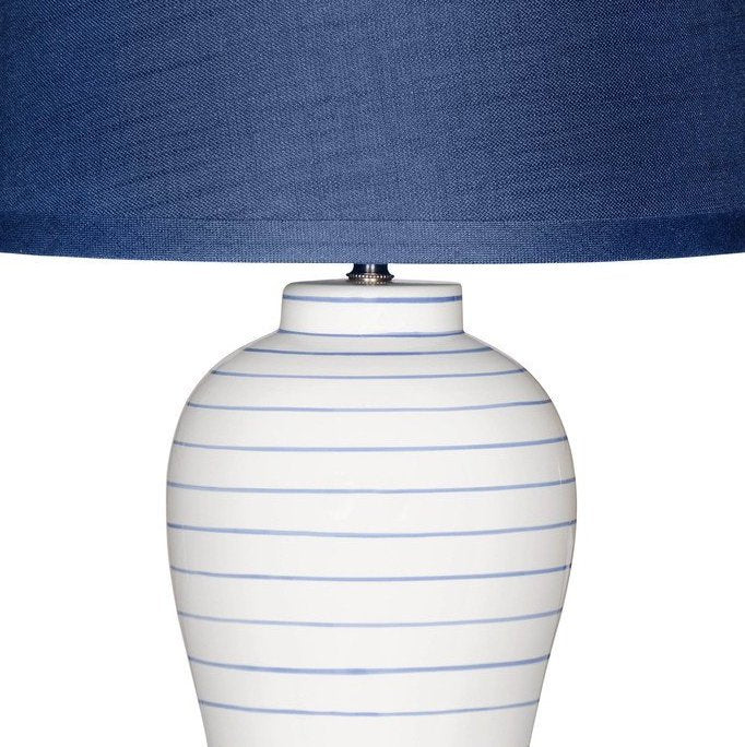 Nautical Classic Pinstripe Table Lamp - Nautical Luxuries