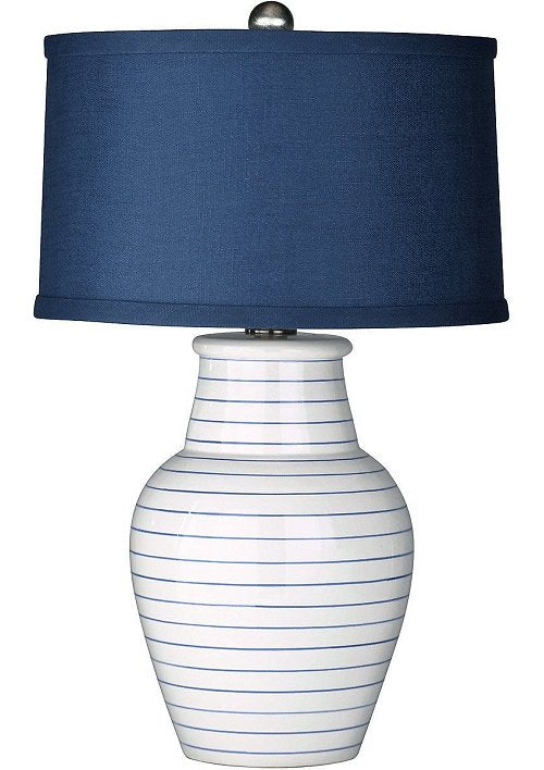nautical blue beach house lamp