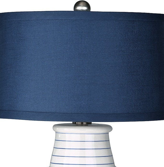 Modern Pinstripes Coastal Table Lamp