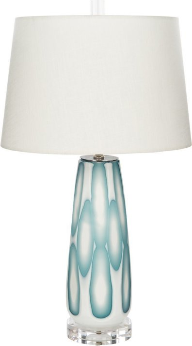 Sea Foam Splash Coastal Table Lamp